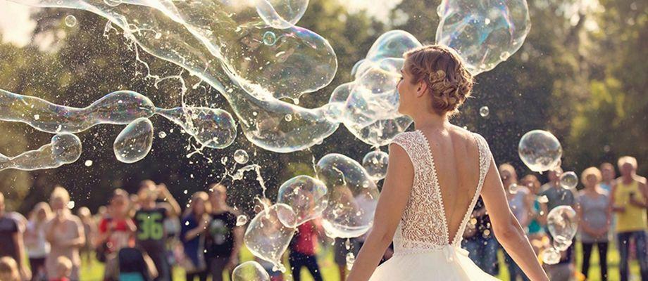 Gyerekbarát esküvő buborékok