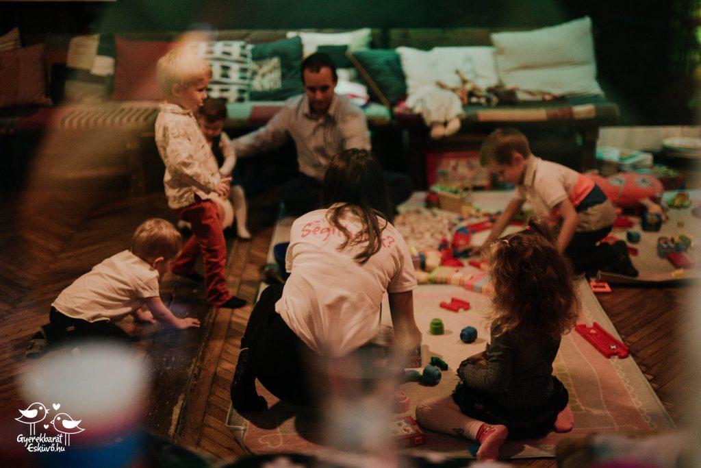 esküvői gyerekmegőrzés, felügyelet, felvigyázás referencia budapest